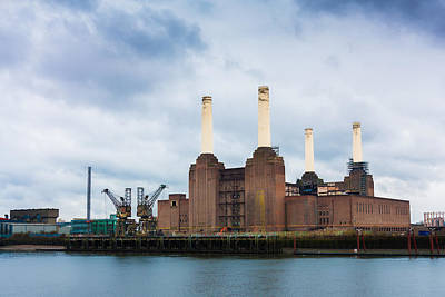 Moody Battersea Power Station Poster by Semmick Photo