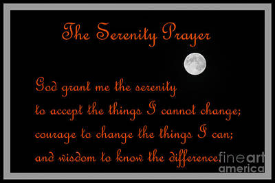 Moon - Serenity Prayer - Orange Poster
