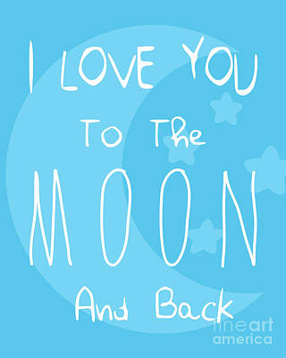 Moon Blue Poster by Pati Photography