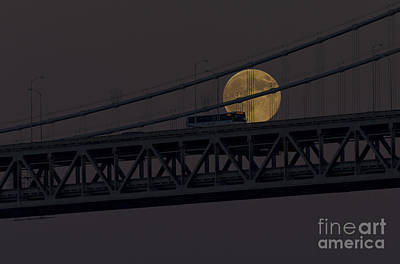 Poster featuring the photograph Moon Bridge Bus by Kate Brown