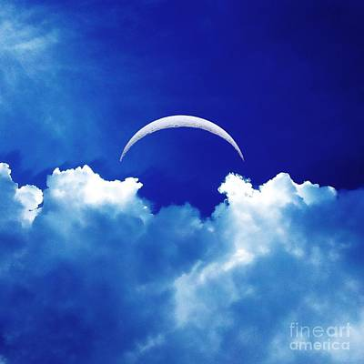 Moon Cloud Poster