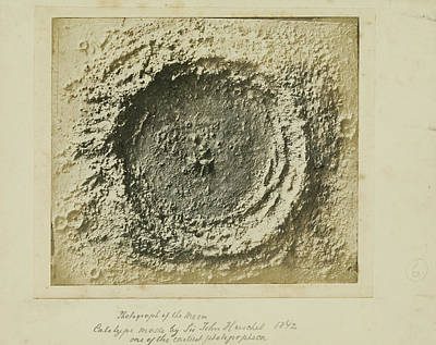 Moon Crater Unknown Late 1850s Salted Paper Print Poster