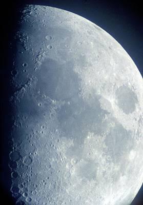 Moon From Space Poster by Detlev Van Ravenswaay
