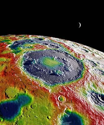 Moon Gravity Map Poster by Nasa