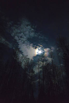 Moon Halo And Clouds 2x3 Poster by Dora Miller
