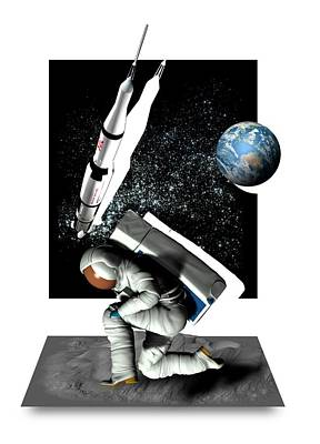 Moon Landing Poster by Victor Habbick Visions