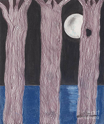 Poster featuring the mixed media Moon Light by David Jackson