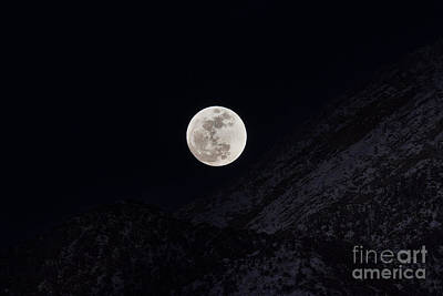 Moon Light On The Mountains Poster by Mitch Johanson