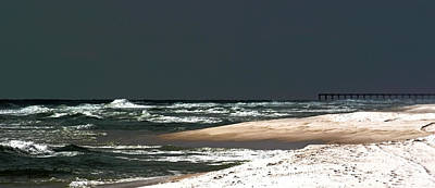 Moon Lit Beach Poster