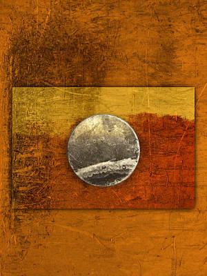 Moon On Gold Poster by Carol Leigh