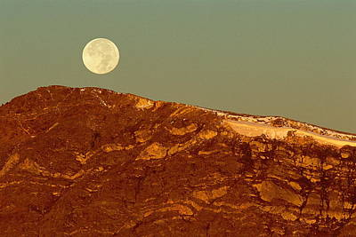 Moon Over Mount Ida Poster by Eric Glaser