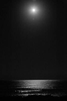 Moon Over Ocean Poster