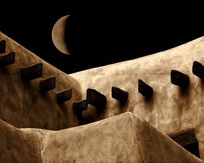 Moon Over Santa Fe Poster