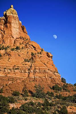 Moon Over Sedona Poster
