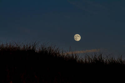 Moon Over The Dunes Poster