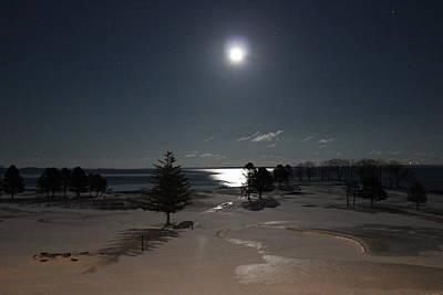 Moon Over The Samoset Poster by Jewels Blake Hamrick