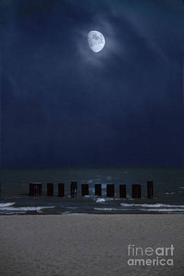 Moon Over Waters Poster by Margie Hurwich