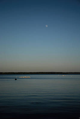 Moon Rising Over Reelfoot Poster by Jai Johnson
