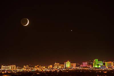 Moon-venus Over Reno Poster