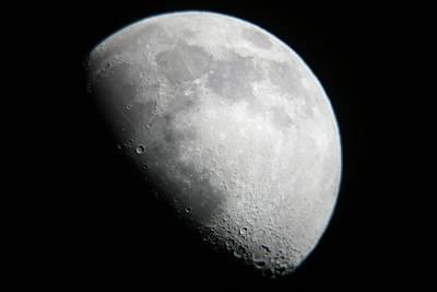 Moon View From Mamalluca Observatory Poster