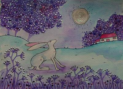 Moongazing Hare Poster