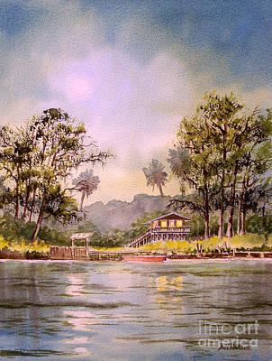 Moonlight Aucilla River Florida Poster by Bill Holkham