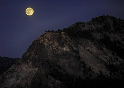 Poster featuring the photograph Moonlight On The Crater Rim by Gary Neiss