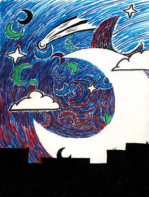 Moonlight Over The Desert Poster