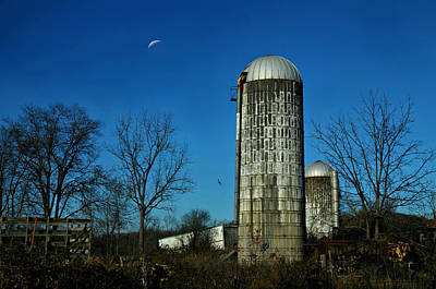 Moonlight Silo Poster by Diana Angstadt