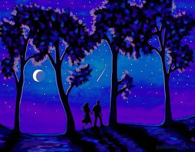 Moonlight Walk Poster by SophiaArt Gallery