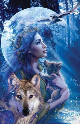 Moonlit Brethren  Poster by Andrew Farley