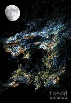 Moonlit Gold Nuggets Poster by Madeline  Allen - SmudgeArt