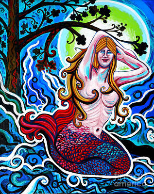 Moonlit Mermaid Poster by Genevieve Esson