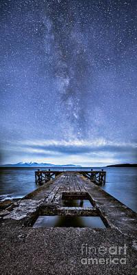 Moonlit Milky Way Poster