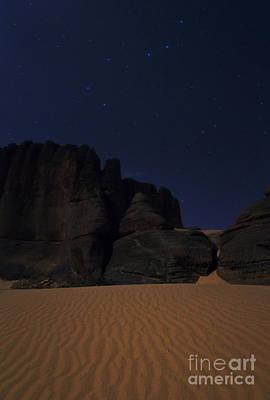 Moonlit Night Of Sahara Poster