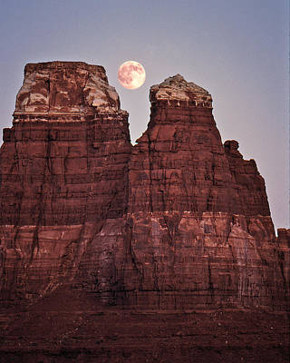 Poster featuring the photograph Moonrise In Utah by Christopher McKenzie