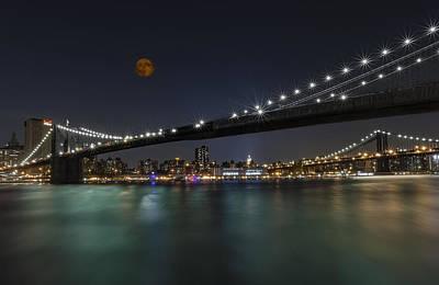 Moonrise Over Manhattan II Poster