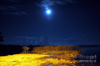 Moonrise Over Rochelle - Landscape Poster