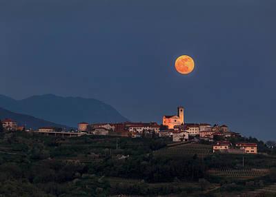 Moonrise Over Smartno Poster by Marko Korosec