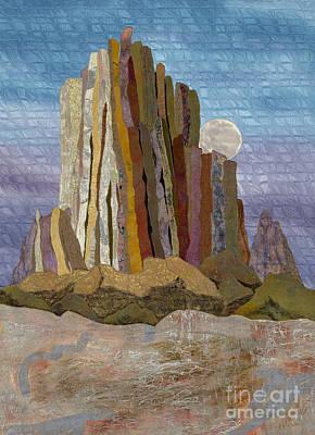 Moonrise Shiprock Poster