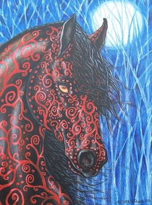Moonsfyre Stallion Of Nyteworld Poster by Beth Clark-McDonal