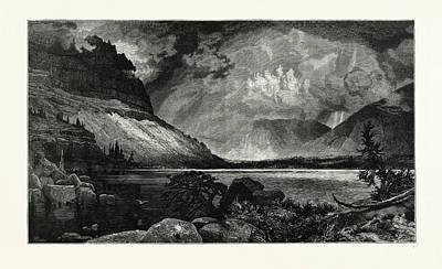 Moores Lake, Utah.  Thomas Moran February 12 Poster by American School
