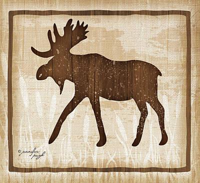 Moose Poster by Jennifer Pugh