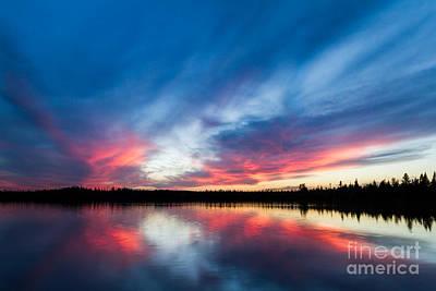Moose Lake Sunset Poster