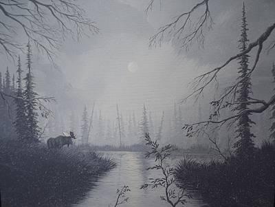Moose Swanson River Alaska Poster by Richard Faulkner