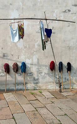 Mops And Laundry 1  Wuzhen China Poster