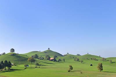 Moraine Hill Landscape Switzerland Poster