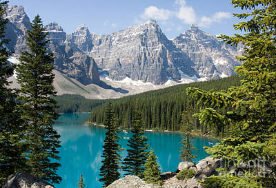 Poster featuring the photograph Moraine Lake by Chris Scroggins