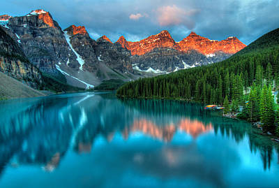 Moraine Lake Sunrise Poster
