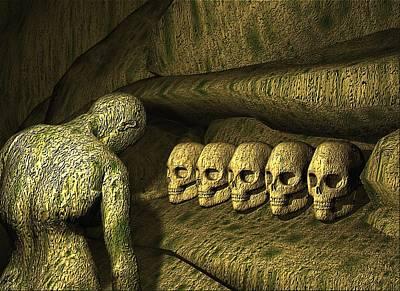 Poster featuring the digital art Morbid Vespers by John Alexander